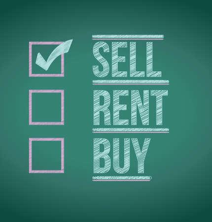 sell: sell over other options illustration design background Illustration