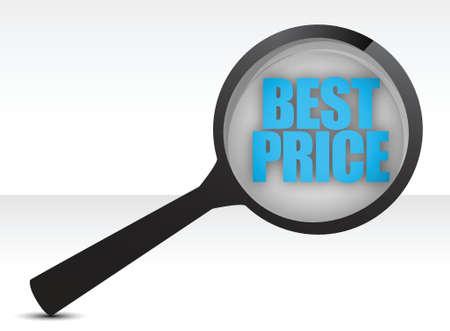 Best price, promotional sale illustration design over white Stock Vector - 17250296