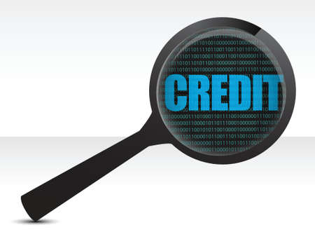 payable: searching for credit illustration design over white
