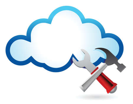 Recovery concept with cloud computing illustration design over white Stock Vector - 17250172