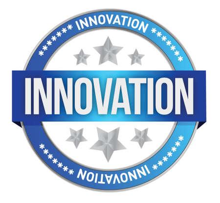 INNOVATION seal illustration design over a white background Stock Vector - 17250312