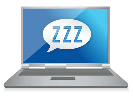 sleeping computer graphic illustration design over white Stock Vector - 17250257