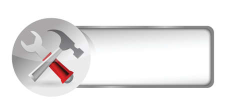 tools icon button illustration design over white Stock Vector - 17250170