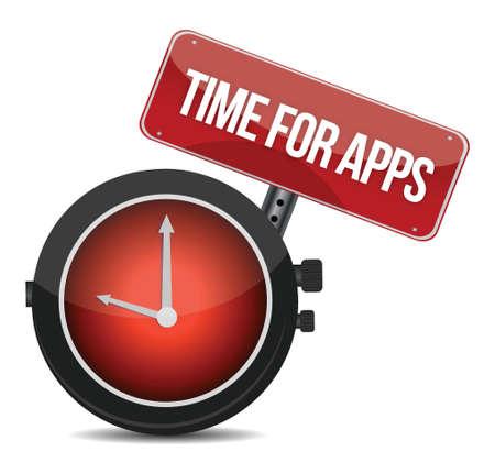 programing: Clock Time for APPS illustration design over white