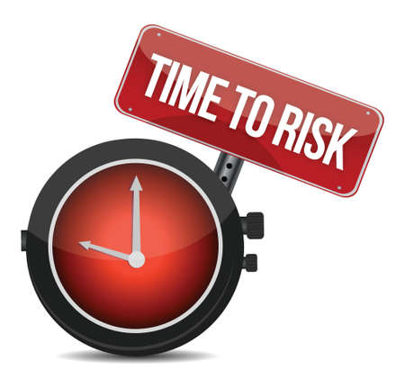 risk time concept clock illustration design over white Vector