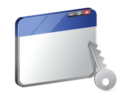 protected internet browser illustration design over white Stock Vector - 17283819