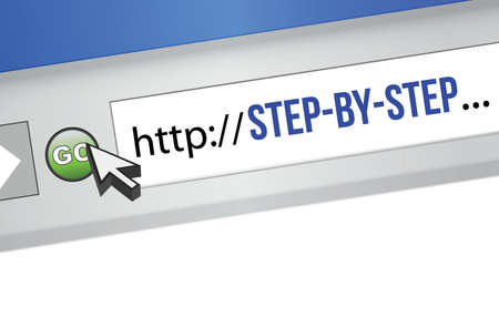 surfing the net: Computer Screen, concept of Online Learning illustration design
