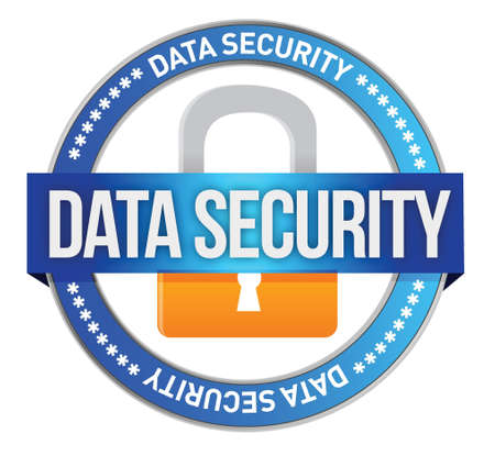 Data Security illustration design over a white background Stock Vector - 17283913