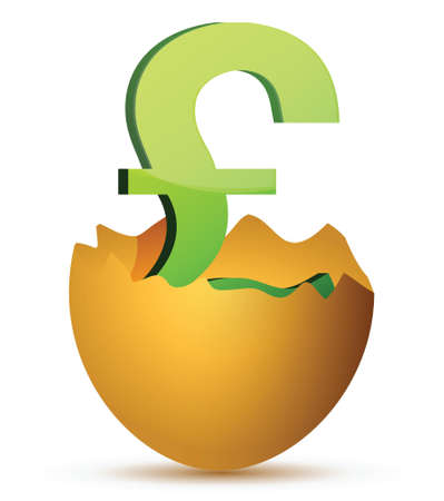 currency symbol inside egg profits concept illustration Stock Vector - 17283896