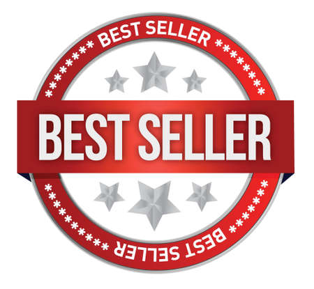 Bestseller label seal illustration design over white Stock Vector - 17320852