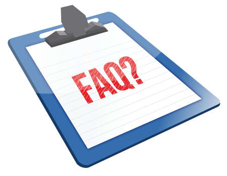 FAQ Icon clipboard illustration design over a white background Stock Vector - 17320779