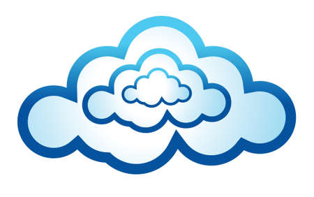 cloud computing icon illustration design on a white background Vector
