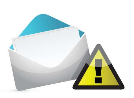 Mail Icon illustration design over a white background Illusztráció