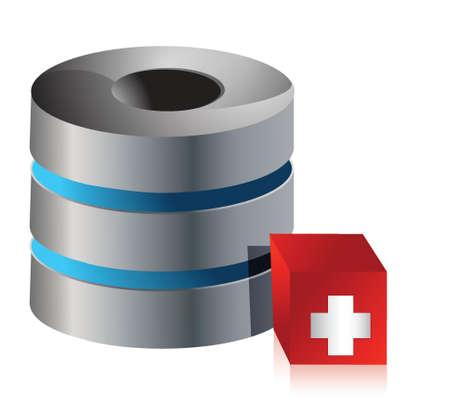 server computer issues concept illustration design over white