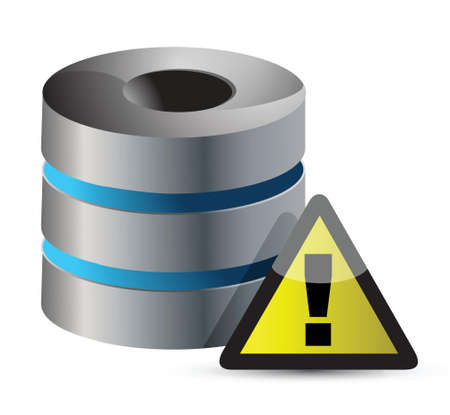 Secure Data Base illustration design over a white background Stock Vector - 17320838