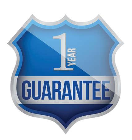 Guarantee label shield illustration design over white Stock Vector - 17320856