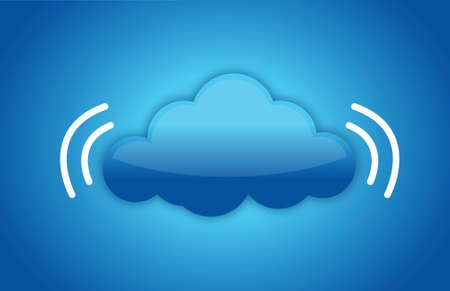 peer: Cloud computing concept with data signal illustration design