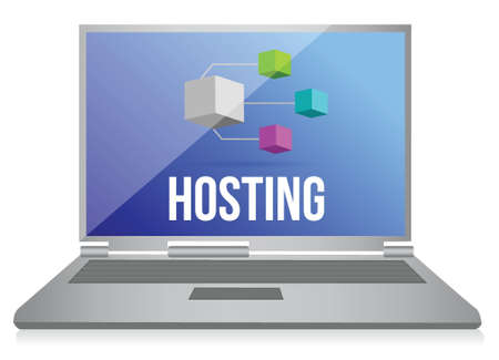 Hosting, Network concept illustration design over a white background Vector