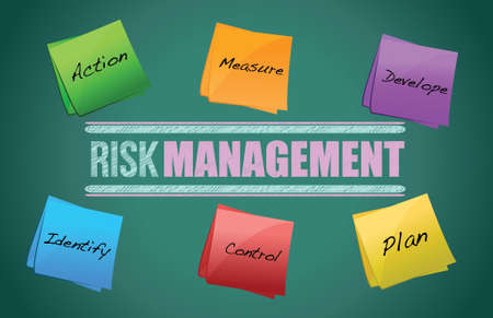 Risk Management blackboard - illustration design diagram graphic Vector