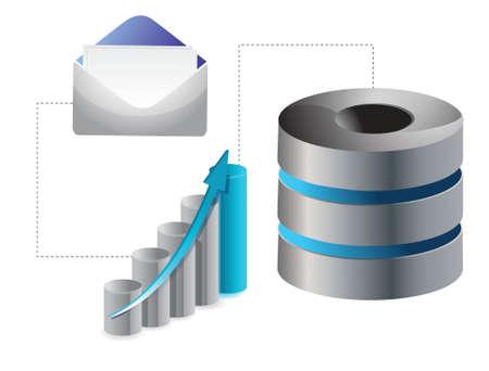 business Mail Service Icon illustration design over white Illustration