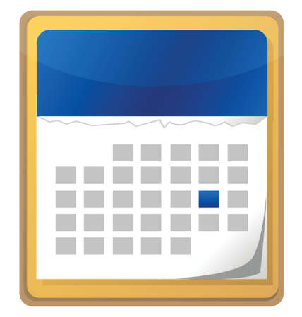calendar with one day selected illustration design