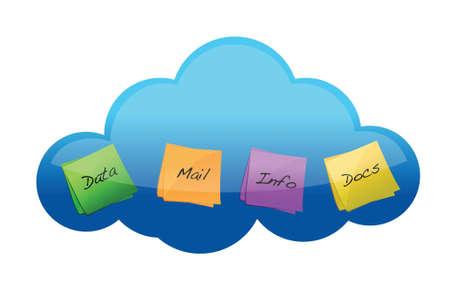 Cloud computing files concept illustration graphic design Stock Vector - 17358307