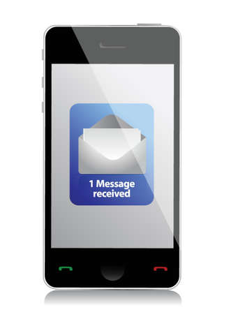 photoreal: modern mobile phone unread message illustration design