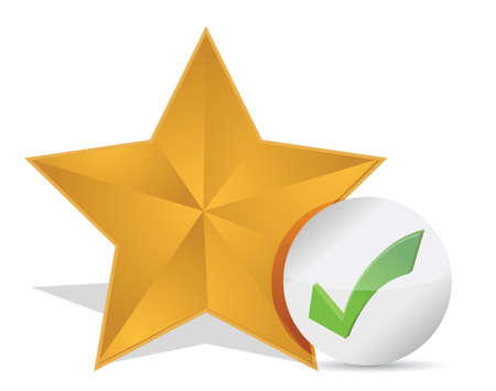 valuation: Star favorite sign web icon illustration design over white Illustration