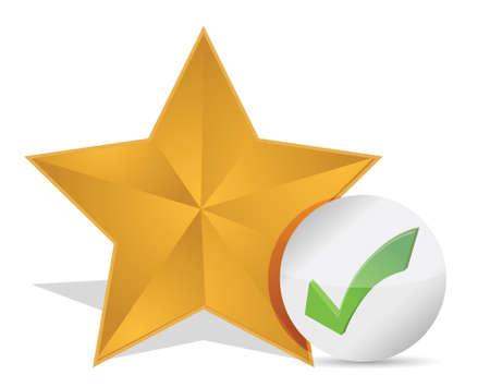 Star favorite sign web icon illustration design over white Stock Vector - 17363084