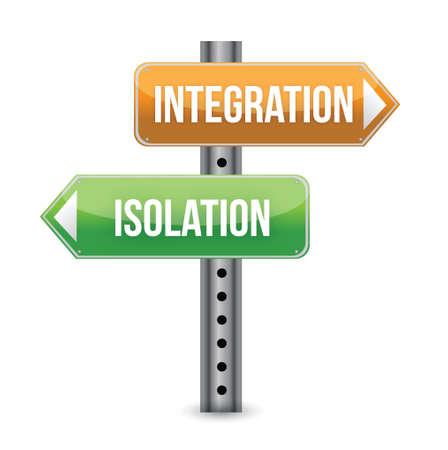 integratie concept met verkeersbord illustratie ontwerp