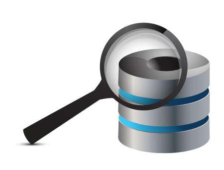 computer technologies search illustration design over white Stock Vector - 17363401