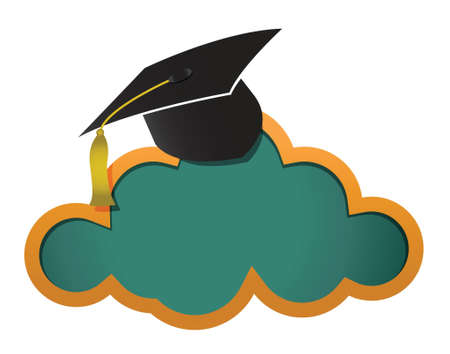 computer education: Education online cloud board illustration design graphic Illustration