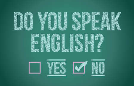 yes or no: Do you speak english illustration design graphic