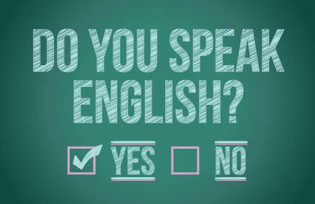 Do you speak english illustration design graphic Vector