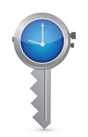 Clock-Key. Concept of Successful time management illustration design Stock Vector - 17417390