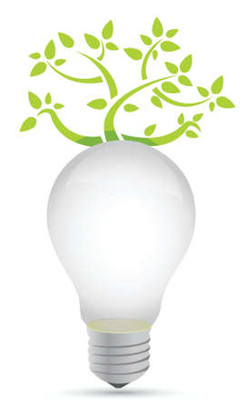 ideas growing concept illustration design over white Vector