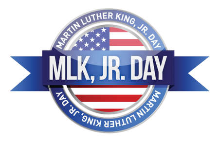Martin luther king jr. us seal and banner illustration design Stock Vector - 17417507