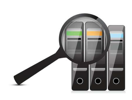 information on the server. illustration design over white Stock Vector - 17417481
