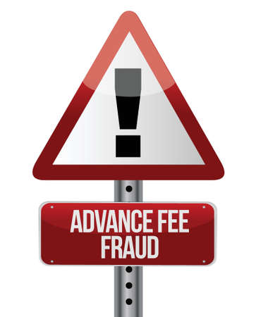 fee: advance fee fraud concept design over a white background