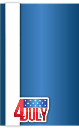 Independence day American sign illustration design background Vector