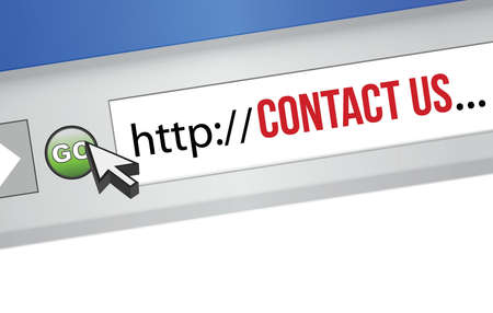 Contact Us concept for an internet webpage design over a white background Vector