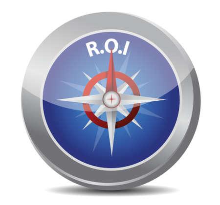 kompas symbool return on investment illustratie ontwerp