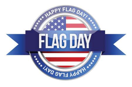 civil rights: flag day. us seal and banner illustration design