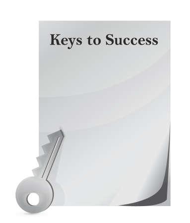 keys to success illustration design over white