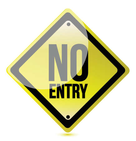 no entry sign illustration design over a white background