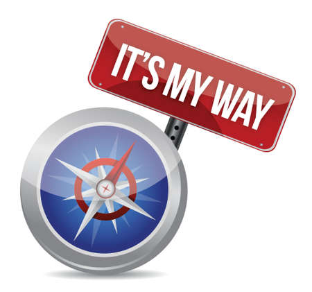 my way compass concept illustration design over white Stock Vector - 17539673