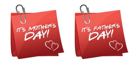 fathers and mothers day illustration design over a white background Stock Vector - 17539589