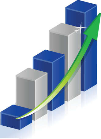 business graph illustration design over a white background