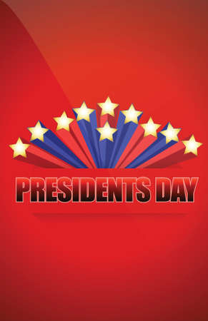 Presidents day sign illustration design over a blue background Vector