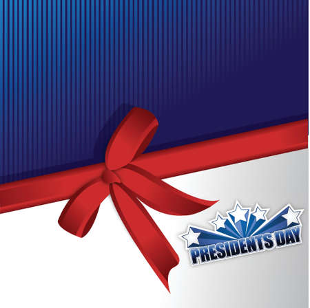 president's: Presidents day sign illustration design over a blue background